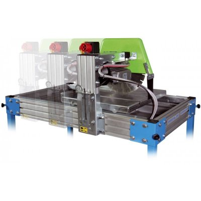 Compact masonry saws for wet cutting and dry cutting