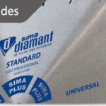 How do diamond blades work and what do they cut?